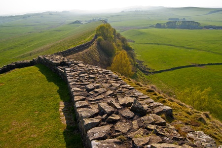 a part of the ancient Hadrian's wall in northern England