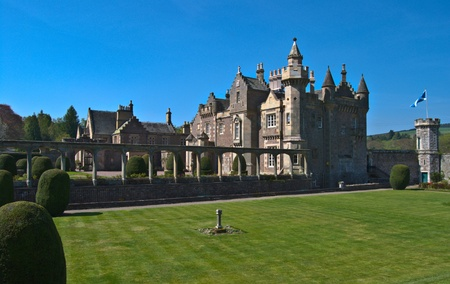 sir walter scott: view of Abbotsford House in Melrose, Scotland