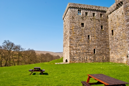 part of Hermitage Castle in the south of scotland
