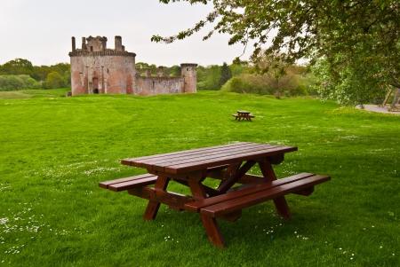 part of Caerlaverock Castle near Dumfries, Scotland