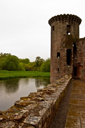 dumfries and galloway: part of Caerlaverock Castle near Dumfries, Scotland