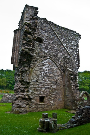 dumfries and galloway: part of the ruins of Glenluce Abbey in Scotland