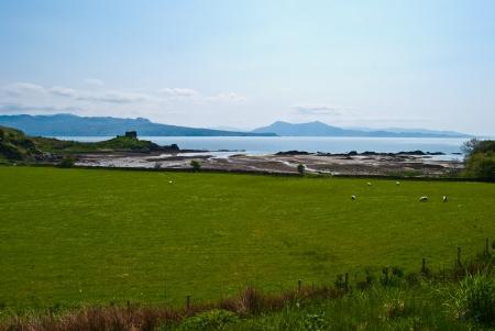scenery on the Isle of Skye in Scotland photo