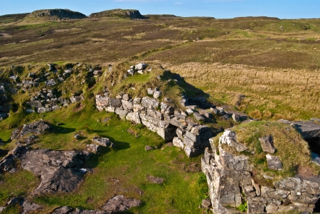 ancient hillfort called Dun Ringill on the Isle of Skye photo
