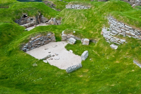 ���stone age���: stone age village Skara Brae on Orkney, Scotland