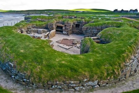 �ge de pierre: l'�ge de pierre du village Skara Brae dans les Orcades, Ecosse