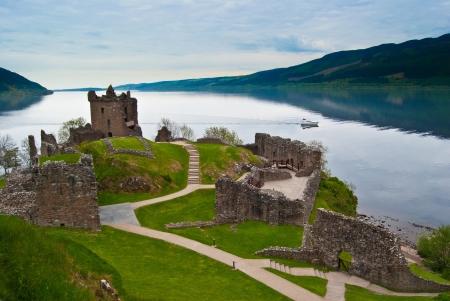 loch: famous Urquhart Castle at Loch Ness in Scotland