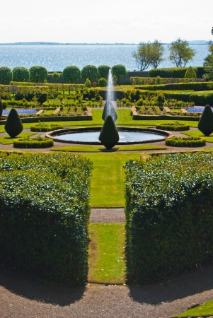 extensive: part of the extensive gardens of Dunrobin Castle
