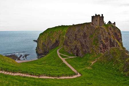 famous remotely set Dunnottar castle in Scotland