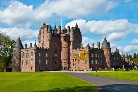 famous castle of Glamis in the highlands of Scotland