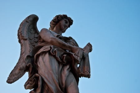one of the angels of the Ponte Sant Angelo in Rome photo