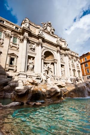 fontana: famous Fontana di Trevi in Rome on a sunny day Stock Photo