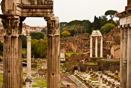 famous historic Forum Romanum in the centre of Rome photo