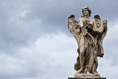 praying angel: one of the angels of the Ponte del Angeli in Rome