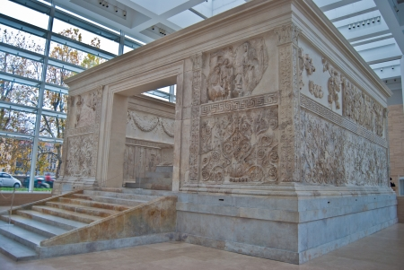 old altar Ara Pacis Augustae in Rome