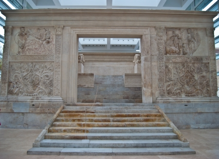 old altar Ara Pacis Augustae in Rome Stock Photo - 17615386