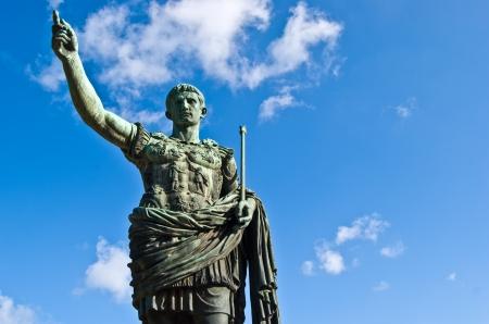 supremacy: statue of the roman emperor Julius Caesar