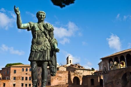 augustus: statue of the roman emperor Gaius Augustus