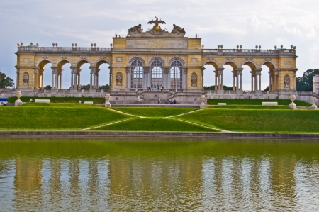 the gloriette: view of the Gloriette of the park Schoenbrunn in Vienna