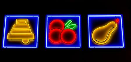 illuminated icons symbolizing slot machine options