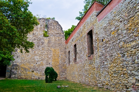 Church ruins on the margaret island of Budapest photo