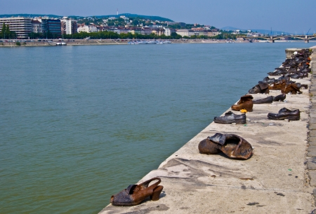 memorial of the Holocaust in Hungary at the Danube