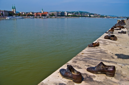 holocaust: memorial of the Holocaust in Hungary at the Danube Editorial
