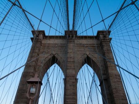 view of the Brooklyn Bridge in NYC photo