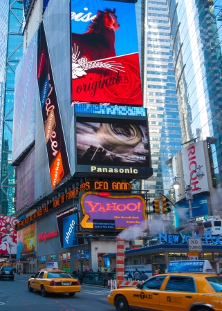 view of the famous Times Square in Manhattan, NYC Stock Photo - 20939867