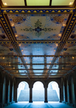 bethesda: view of Bethesda Terrace in the heart of the Central Park in NYC Editorial