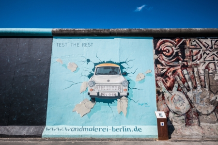 part of the famous East Side Gallery in Berlin