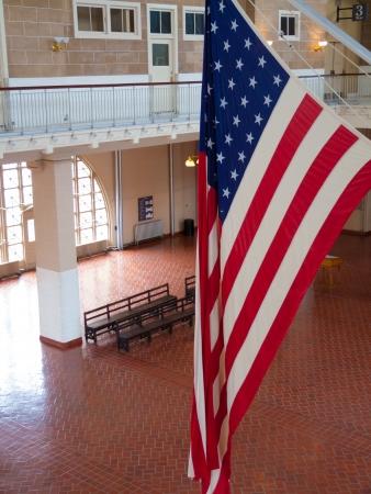 ellis: waiting hall of the immigration terminal of Ellis Island