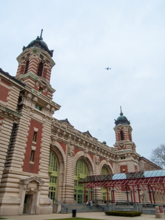 ellis: immigration terminal on Ellis Island in the harbor of NYC
