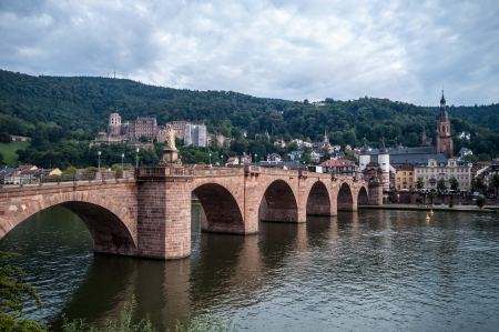view of the old town of Heidelberg photo