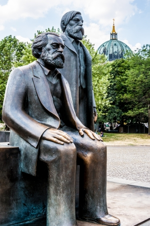 marx: memorial for Marx and Engels in Berlin