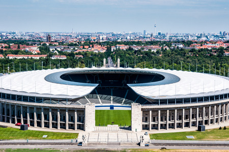 summer olympics: view of the olympic stadium in Berlin on a sunny day