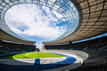 olympic stadium: view of the olympic stadium in Berlin on a sunny day