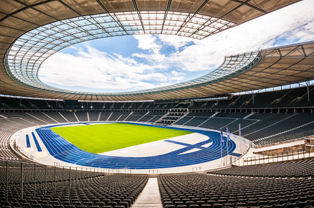 view of the olympic stadium in Berlin on a sunny day