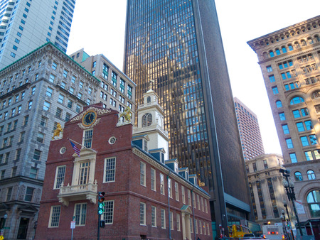 cityhall: view of the Old City hall in Boston Stock Photo