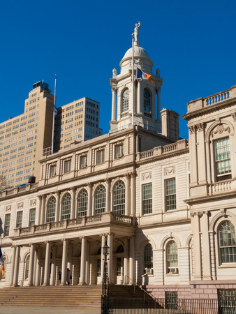 cityhall: view of the cityhall in New York City