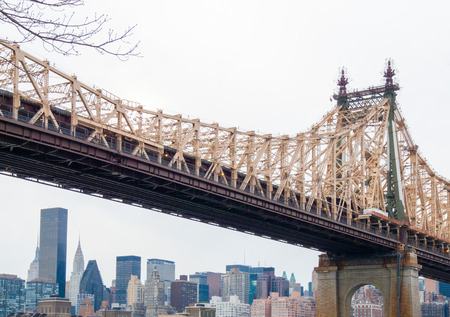 view of the Queensborough Bridge in NYC