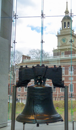 liberty bell: view of the famous Liberty bell in Phladelphia Stock Photo