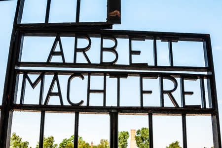 arbeit: part of the former concentration camp Sachsenhausen near Berlin