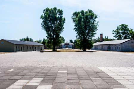 sachsenhausen: parte dell'ex campo di concentramento di Sachsenhausen, vicino a Berlino Editoriali