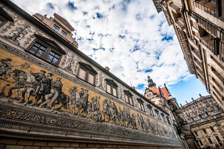 procession: Procession of Princes (Fuerstenzug) in Dresden, Germany
