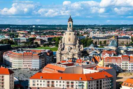 View of Dresden from the new townhall