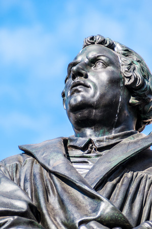 martin luther: monument of Martin Luther in Dresden, Saxony