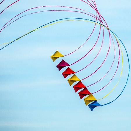 Flying kite on a sunny day photo