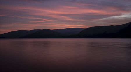 Sunrise over Ullswater, The Lake District. Ullswater is the second largest lake in the English Lake District,