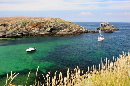 Panoramic coastal view of Belle-ile-en-mer, Brittany, France